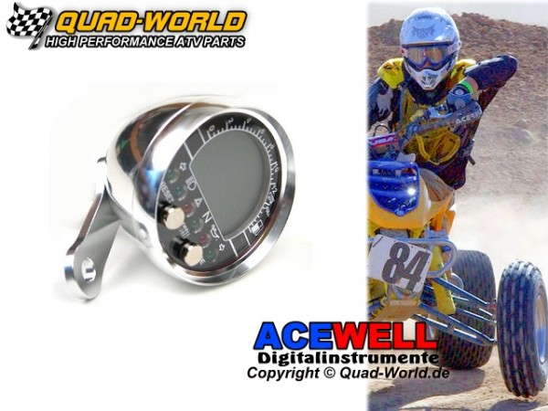 Acewell ACE-2853AP Tacho u. Drehzahlmesser Aufbau Silber