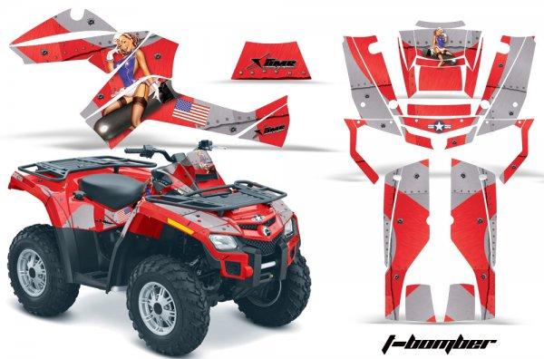 Grafik Kit Dekor T-Bomber Can Am Outlander 800 Quad ATV Graphic Kit