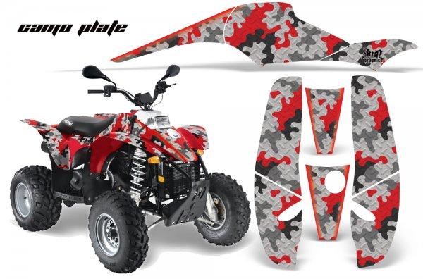 Grafik Kit Dekor Camo Plate Polaris Scrambler,Trailblazer 200/400/500 Quad ATV Graphic Kit