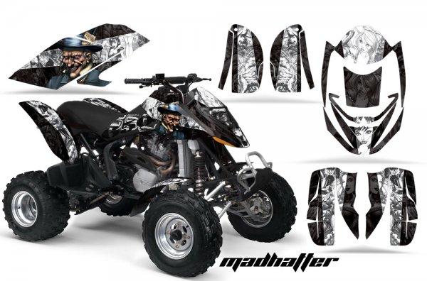 Grafik Kit Dekor MadHatter Can Am Bombardier DS650 Quad ATV Graphic Kit