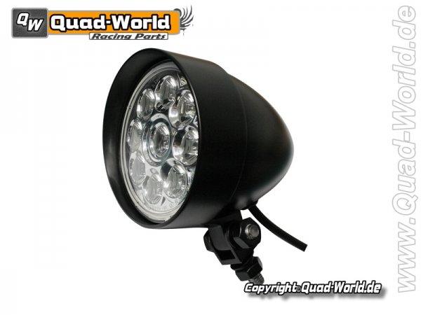 LED Fernscheinwerfer INDIANAPOLIS Schwarz mit 9 Power LEDs E-geprüft