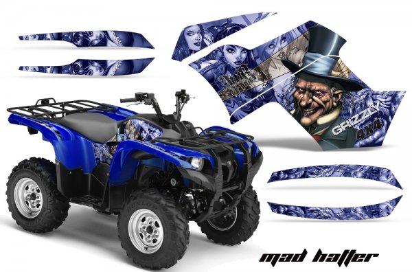 Grafik Kit Dekor MadHatter Yamaha 700/550 Grizzly Quad ATV Graphic Kit