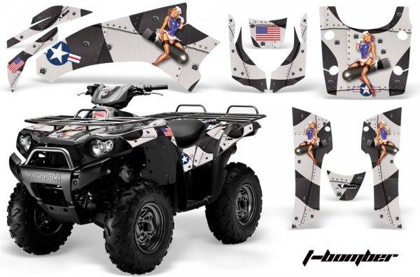 Grafik Kit Dekor T-Bomber Kawasaki Brute Force 650i Quad ATV Graphic Kit