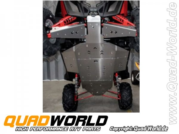 Unterfahrschutz Komplett Aluminium für Polaris RZR 900 XP 2011