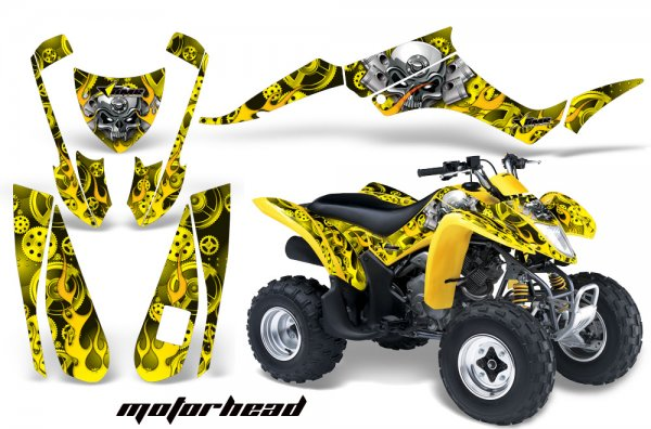 Grafik Kit Dekor Motorhead Suzuki LTZ 250 Quad ATV Graphic Kit