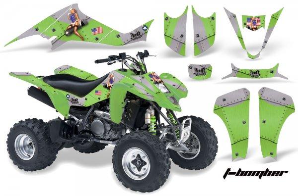 Grafik Kit Dekor T-Bomber Kawasaki KFX 400 Quad ATV Graphic Kit