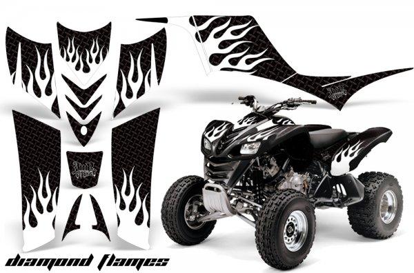 Grafik Kit Dekor Diamond Flames Kawasaki KFX 700 Quad ATV Graphic Kit