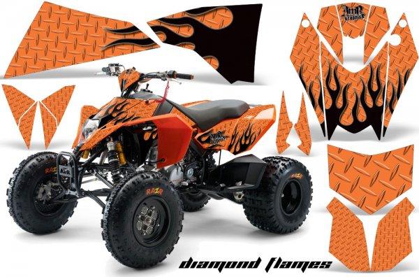 Grafik Kit Dekor Diamond Flame KTM 450/505/525 Quad ATV Graphic Kit