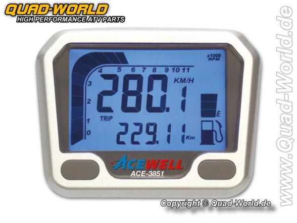Acewell ACE-3851-700R Tacho u. Drehzahlmesser Speziell Yamaha 700R