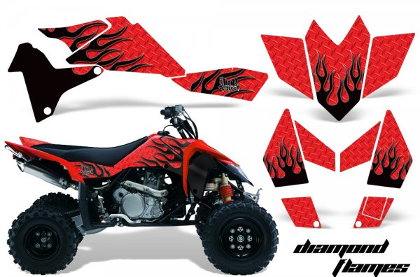 Grafik Kit Dekor Diamond Flame Suzuki LTR 450 Quad ATV Graphic Kit
