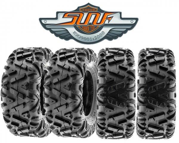 1 Satz ATV Reifen 25x8-12 65J 6PR + 25x10-12 70J 6PR SUN-F A-033