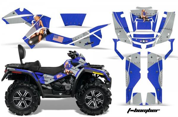 Grafik Kit Dekor T-Bomber Can Am Outlander MAX 400/500/650/800 Quad ATV Graphic Kit