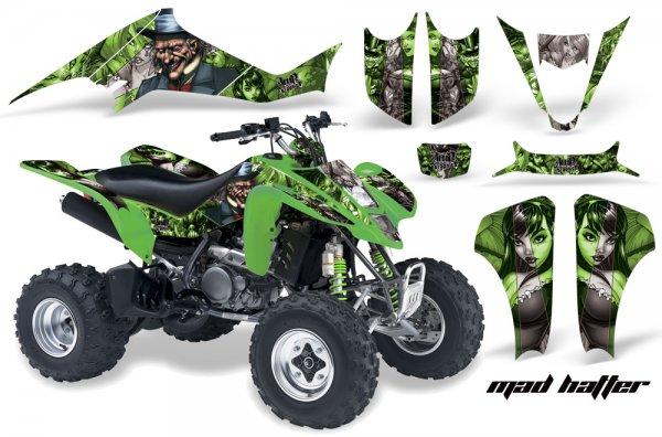 Grafik Kit Dekor MadHatter Kawasaki KFX 400 Quad ATV Graphic Kit