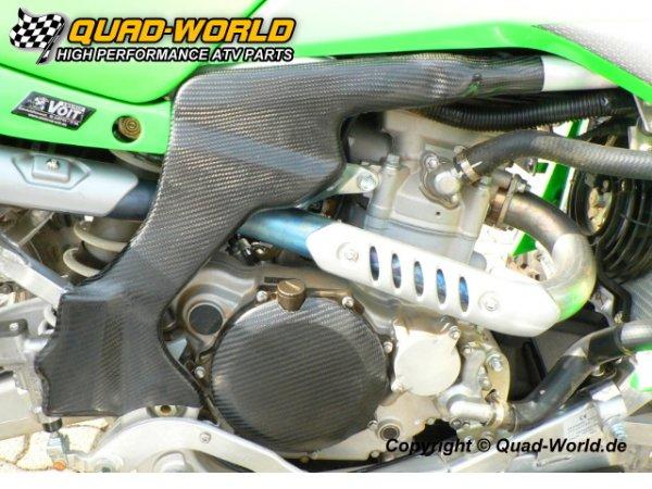Kawasaki KFX 450 Rahmenschutz Rechts aus Carbon