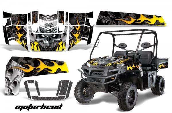 Grafik Kit Dekor Motorhead Polaris Ranger XP 500/700 4X4 UTV Graphic Kit