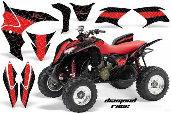 Grafik Kit Dekor Diamond Race Honda TRX 700XX Quad ATV Graphic Kit