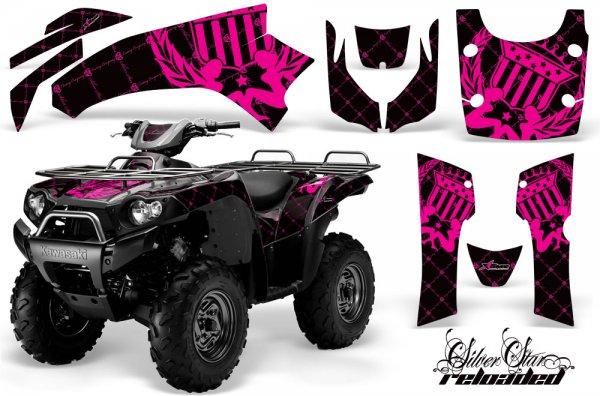 Grafik Kit Dekor Silver Star Reloaded Kawasaki Brute Force 750 Quad ATV Graphic Kit
