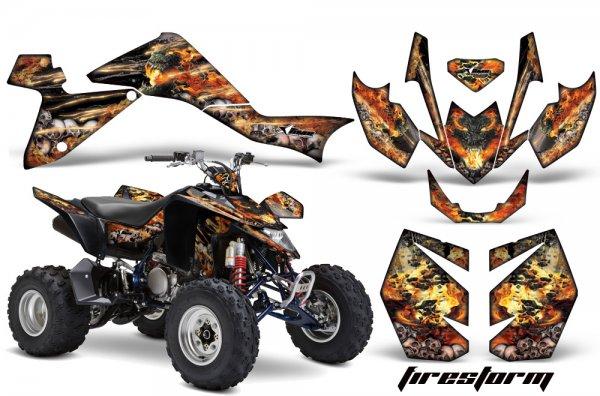 Grafik Kit Dekor Firestorm Suzuki LTZ 400 09-11 Quad ATV Graphic Kit