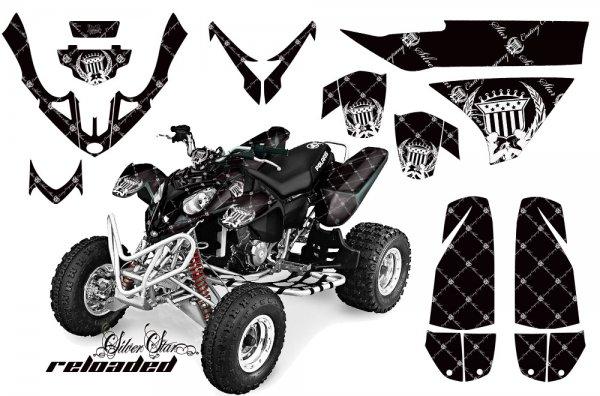 Grafik Kit Dekor Silver Star Reloaded Polaris Predator 500 Quad ATV Graphic Kit