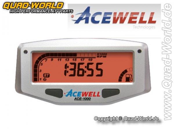Acewell Digital Drehzahlmesser Silber ACE-1000