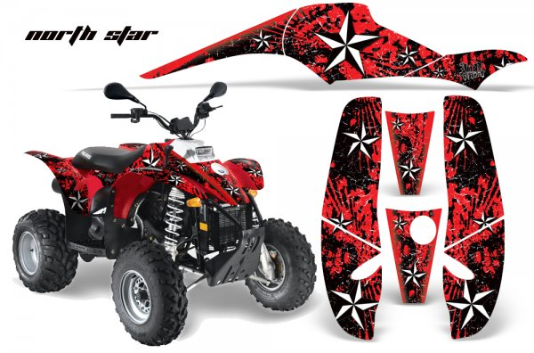 Grafik Kit Dekor North Star Polaris Scrambler,Trailblazer 200/400/500 Quad ATV Graphic Kit