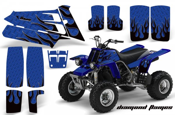 Grafik Kit Dekor Diamond Flames Yamaha 350 Banshee Quad ATV Graphic Kit