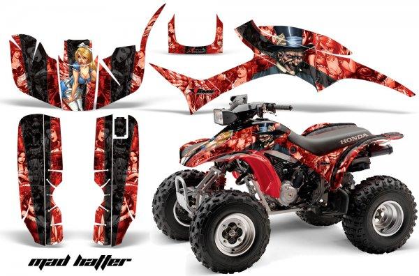 Grafik Kit Dekor MadHatter Honda TRX300EX 93-06 Quad ATV Graphic Kit