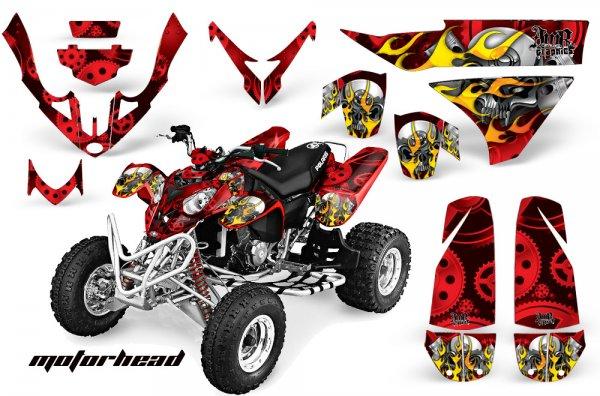 Grafik Kit Dekor Motorhead Polaris Predator 500 Quad ATV Graphic Kit