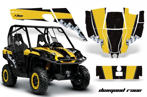 Grafik Kit Dekor Diamond Race CanAm BRP Commander 1000, 800 UTV Graphic Kit