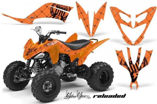 Grafik Kit Dekor Silver Star Reloaded Yamaha YFM 250 R Quad ATV Graphic Kit