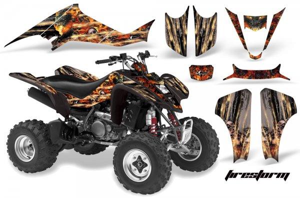 Grafik Kit Dekor Firestorm Suzuki LTZ 400 04-08 Quad ATV Graphic Kit