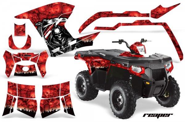 Grafik Kit Dekor Reaper Polaris Sportsman 800/500 Quad ATV Graphic Kit