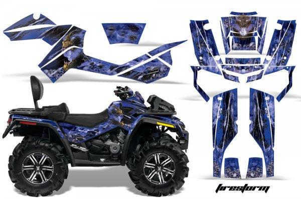 Grafik Kit Dekor Firestorm Can Am Outlander MAX 400/500/650/800 Quad ATV Graphic Kit