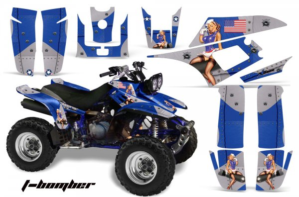Grafik Kit Dekor T-Bomber Yamaha YFM 350 Warrior Quad ATV Graphic Kit