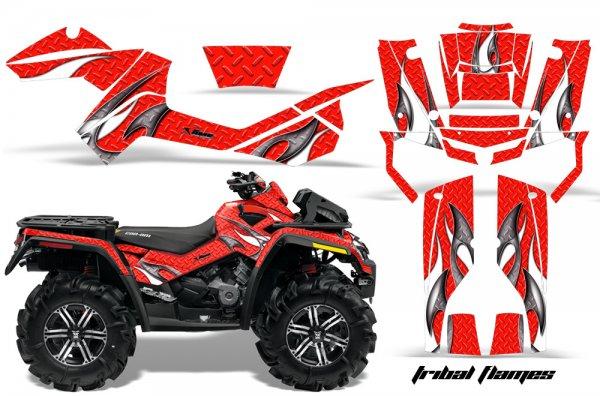 Grafik Kit Dekor Tribal Flame Can Am Outlander 800 XMR Quad ATV Graphic Kit