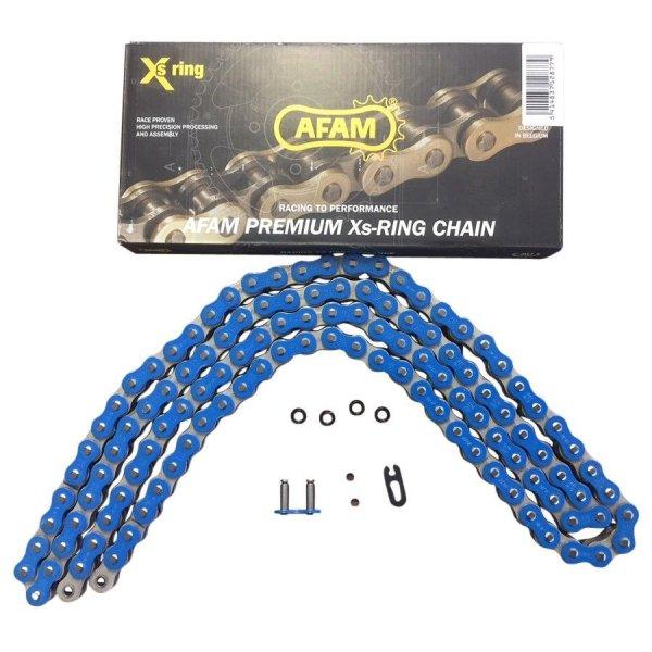AFAM Kette X-Ring Typ A520XRR-B 520 / 120 Glieder Farbe Blau für Fahrzeuge über 500ccm
