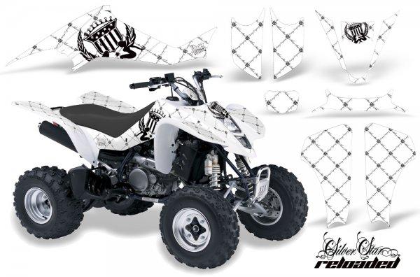 Grafik Kit Dekor Silver Star Reloaded Suzuki LTZ 400 04-08 Quad ATV Graphic Kit