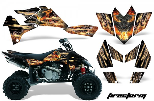 Grafik Kit Dekor Firestorm Suzuki LTR 450 Quad ATV Graphic Kit