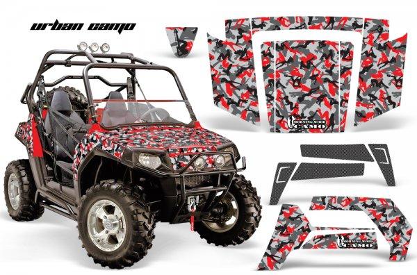Grafik Kit Dekor Urban Camo Polaris RZR 800 800s 06-10 UTV Graphic Kit