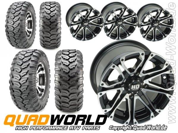 ATV Kompletträder Radsatz Can Am Renegade 500 570 800 u. 1000 G2 Maxxis Ceros incl. Teilegutachten