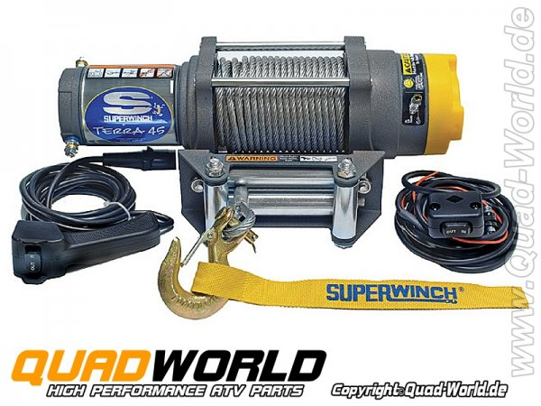 SUPERWINCH ATV UTV Seilwinde TERRA 45 Stahlseil 2041kg