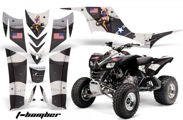 Grafik Kit Dekor T-Bomber Kawasaki KFX 700 Quad ATV Graphic Kit