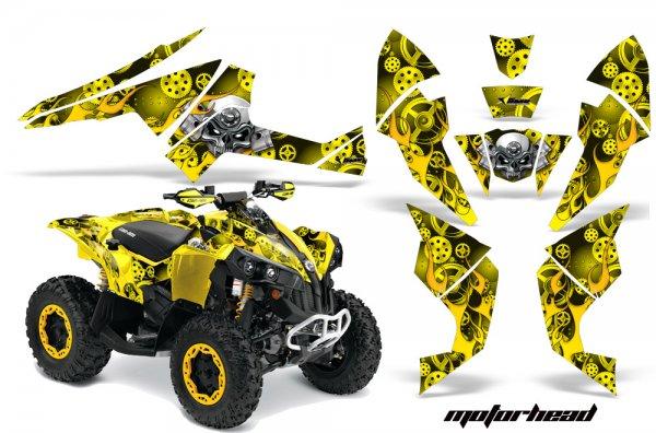 Grafik Kit Dekor Motorhead Can Am Renegade 800x 800r Quad ATV Graphic Kit