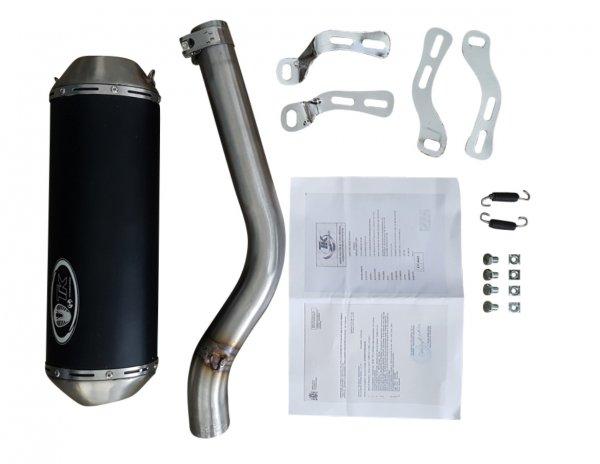 Turbo Kit Auspuff Endtopf für Yamaha YFM 350R + Warrior 350 E-Geprüft Slip on