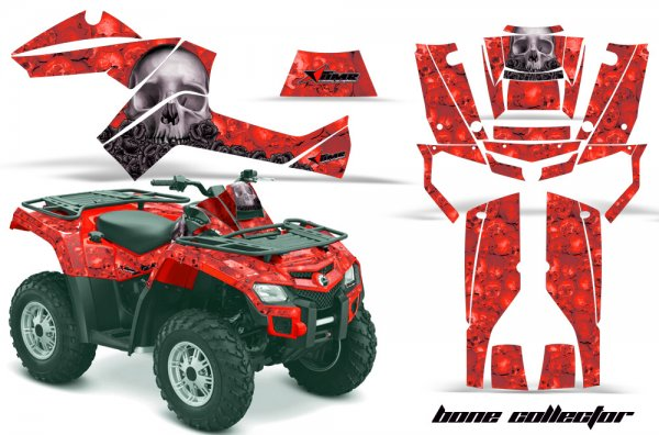 Grafik Kit Dekor Bone Collector Can Am Outlander 800 Quad ATV Graphic Kit
