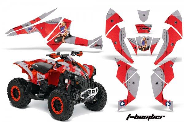 Grafik Kit Dekor T-Bomber Can Am Renegade 800x 800r Quad ATV Graphic Kit