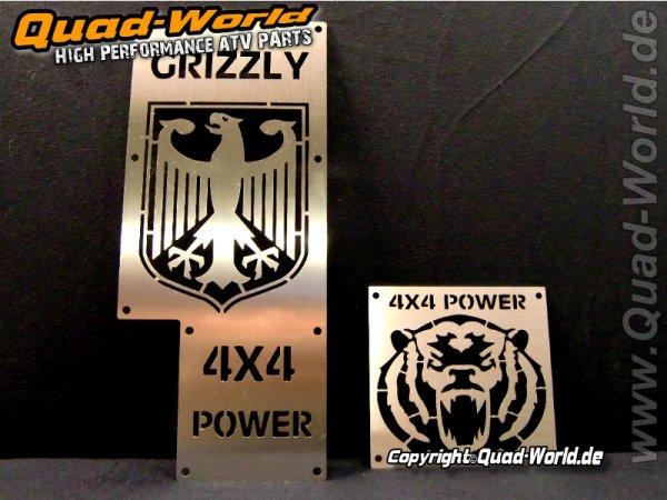 Quad ATV Edelstahl Warnschilder Edelstahl Adler Yamaha Grizzly 700