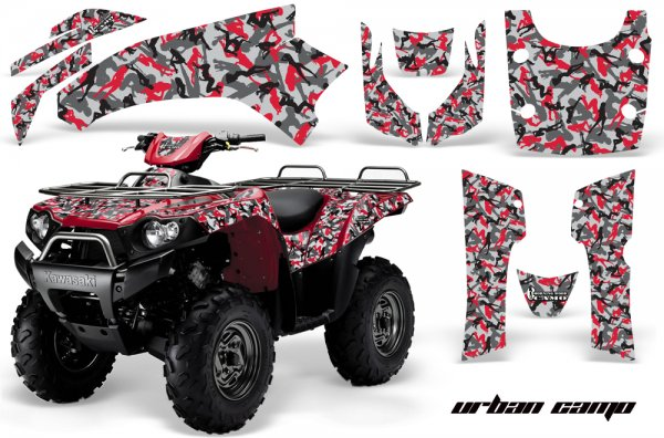 Grafik Kit Dekor Urban Camo Kawasaki Brute Force 750 Quad ATV Graphic Kit