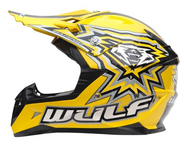 Kinder Cross Helm Flite-Xtra XL (53-54cm) Gelb Motorrad Quad Bike Enduro MX BMX Helm