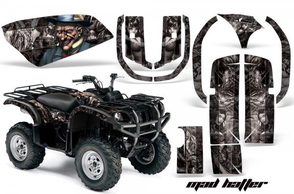 Grafik Kit Dekor Madhatter Yamaha 660 Grizzly Quad ATV Graphic Kit